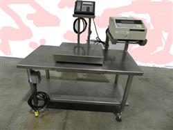 216044 - BIZERBA  Electronic Scale With Stainless Table On Wheels