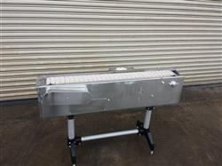 "216934 -  4.5"" W x 48"" L  Stainless Steel Bottle Conveyor with Speed Controller"