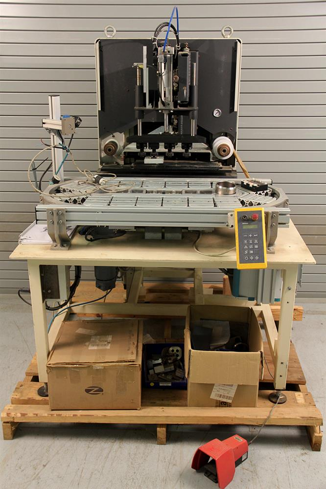 MADAG Sigma 180 4-Color Pad Printer with Racetrack Indexer automation