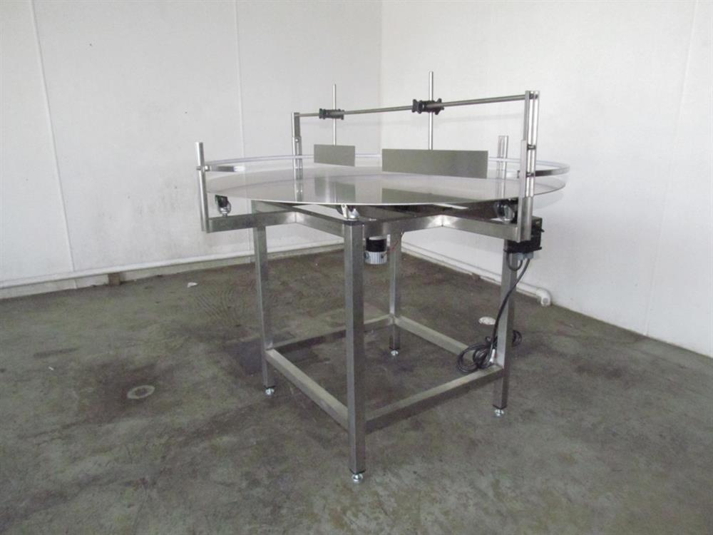"48"" Dia. Unscrambler Stainless Steel Rotary Turn Table - NEW"