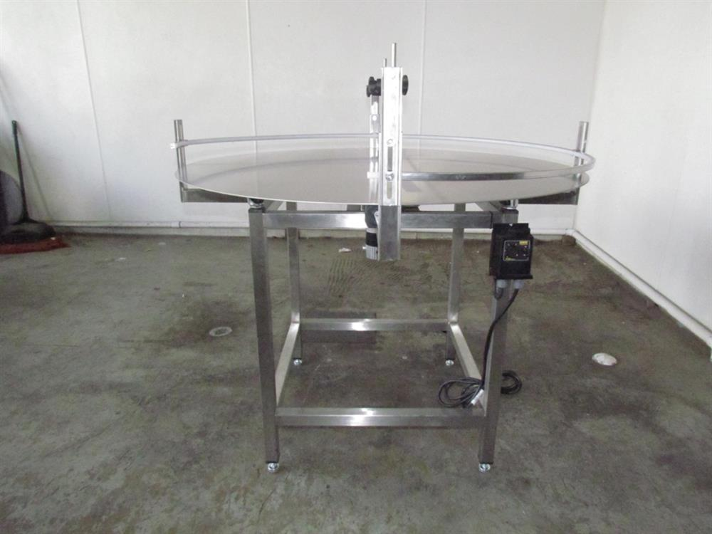 """Image 48"""" Dia. Unscrambler Stainless Steel Rotary Turn Table - NEW 650286"""