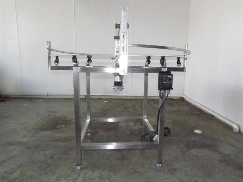 """Image 48"""" Dia. Unscrambler Stainless Steel Rotary Turn Table - NEW 650287"""