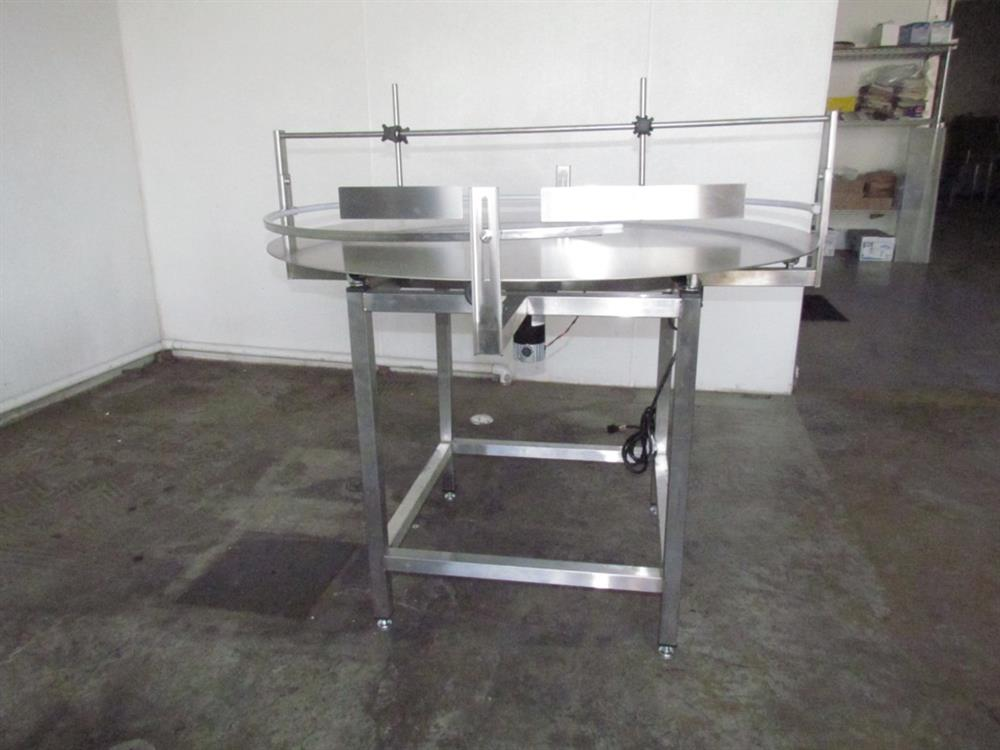 """Image 48"""" Dia. Unscrambler Stainless Steel Rotary Turn Table - NEW 650288"""