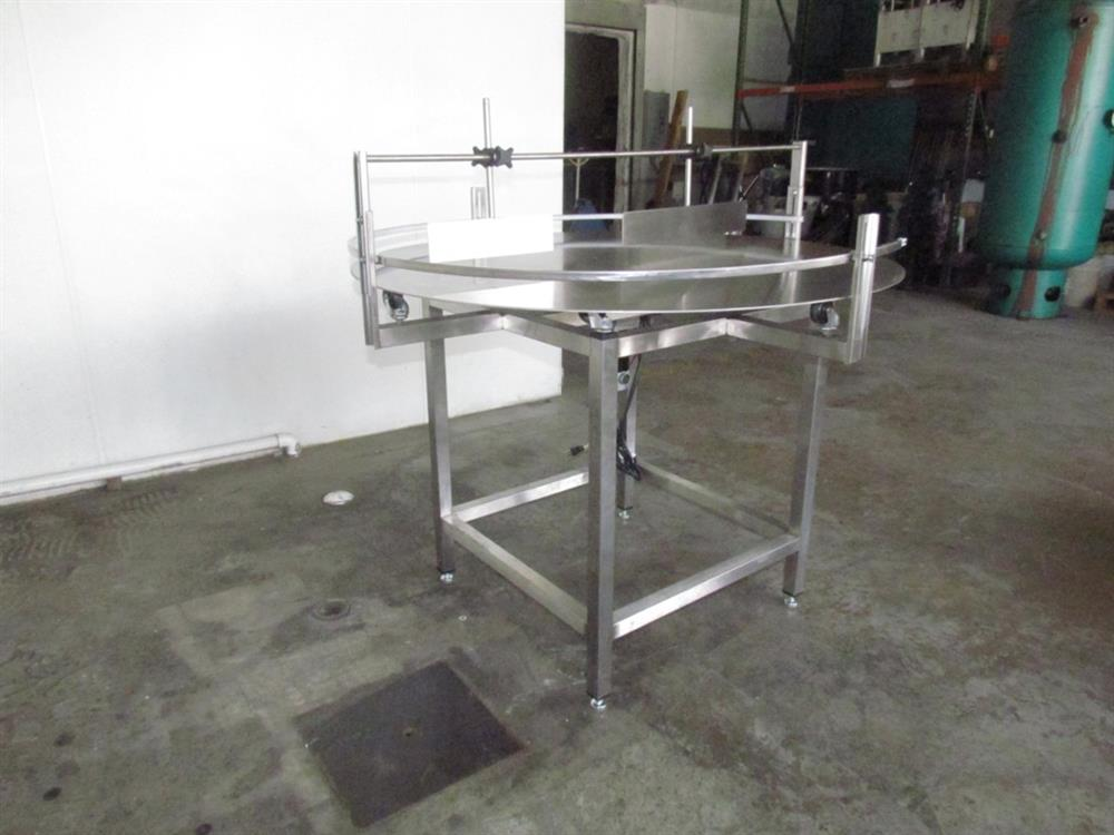 """Image 48"""" Dia. Unscrambler Stainless Steel Rotary Turn Table - NEW 650289"""