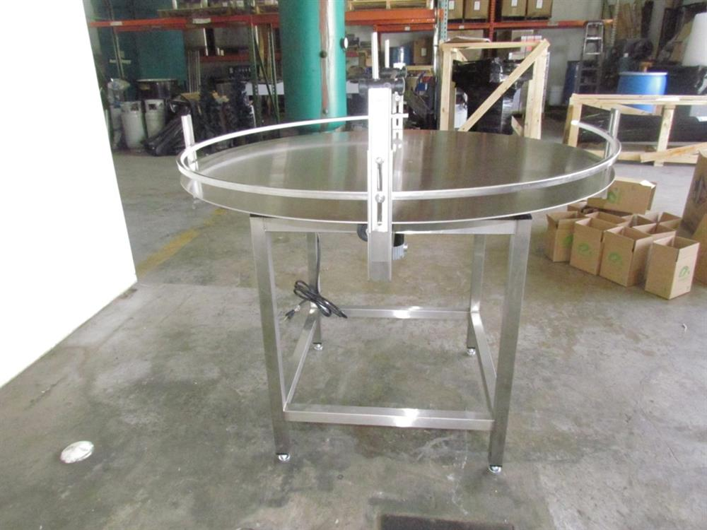 """Image 48"""" Dia. Unscrambler Stainless Steel Rotary Turn Table - NEW 650290"""