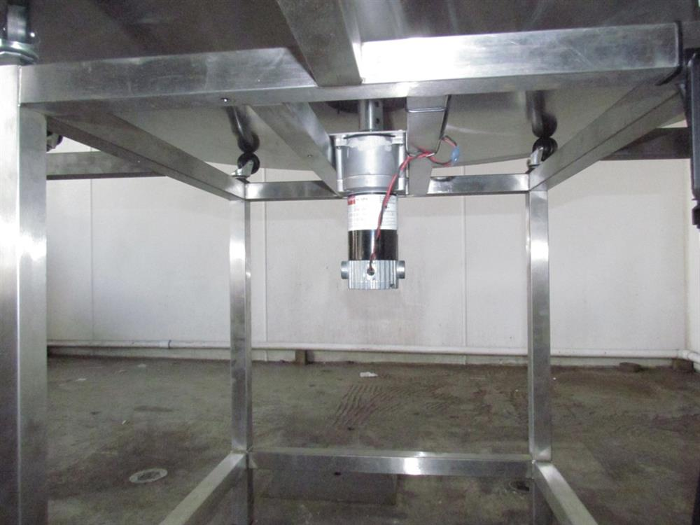 """Image 48"""" Dia. Unscrambler Stainless Steel Rotary Turn Table - NEW 650291"""