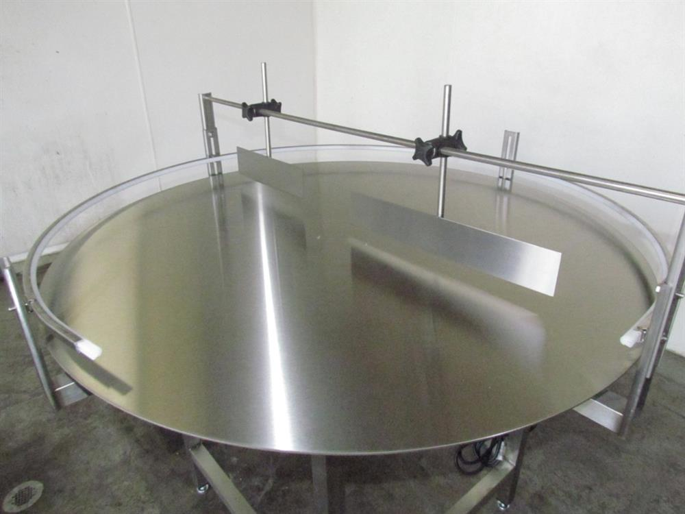 """Image 48"""" Dia. Unscrambler Stainless Steel Rotary Turn Table - NEW 650292"""