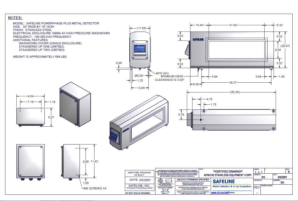 217505 6 mettler toledo safeline pow 217505 for sale used safeline metal detector wiring diagram at n-0.co