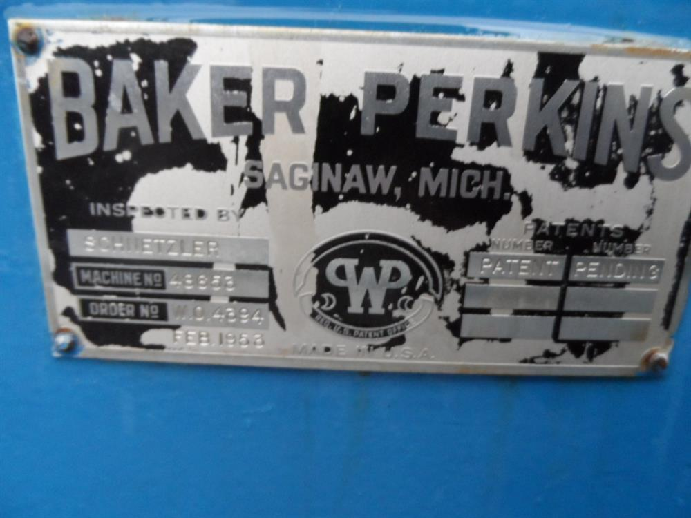 Image BAKER PERKINS Stainless Steel Jacketed Mixer 651246