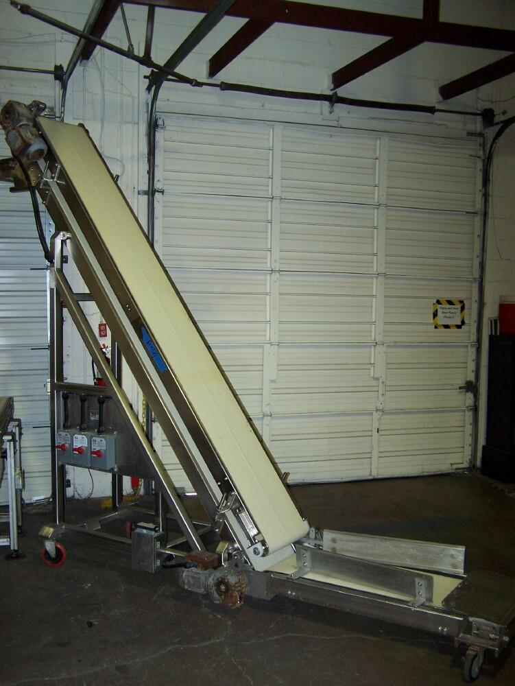 """Image 16""""W Double Belt Inclined Conveyor Stainless Steel 651693"""