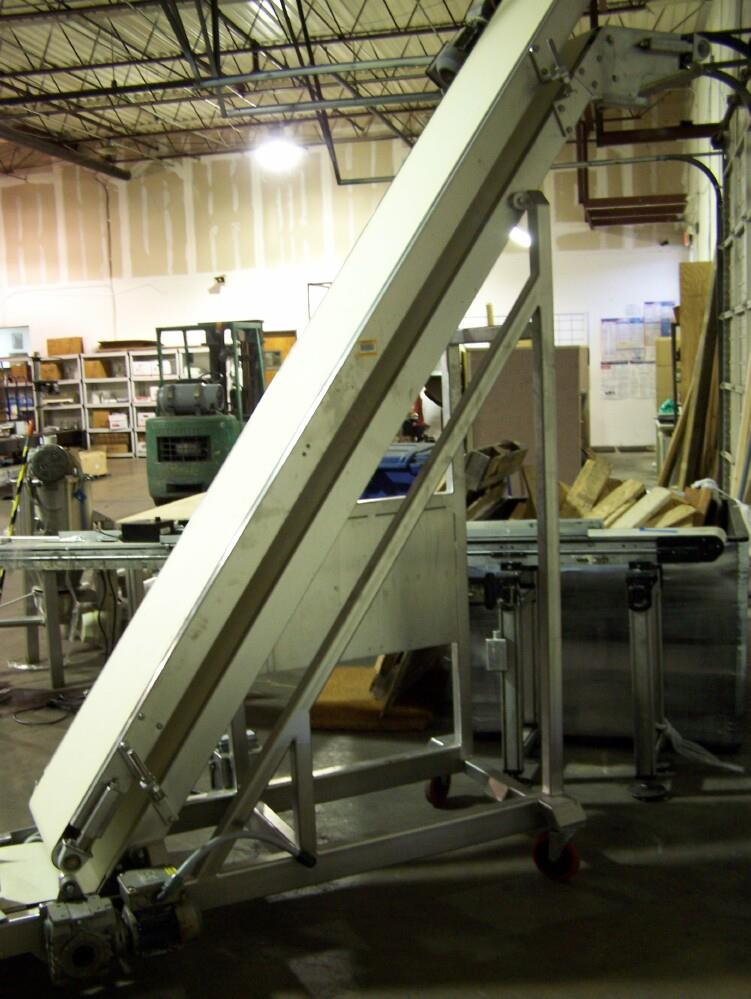 """Image 16""""W Double Belt Inclined Conveyor Stainless Steel 651694"""
