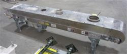 218638 - 12 IN  W X 9 FT L HYTROL Stainless Steel Belt Conveyor