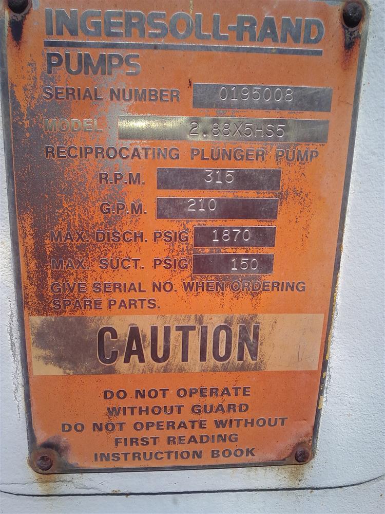 Image INGERSOLL RAND Quintuplex Pump 659631