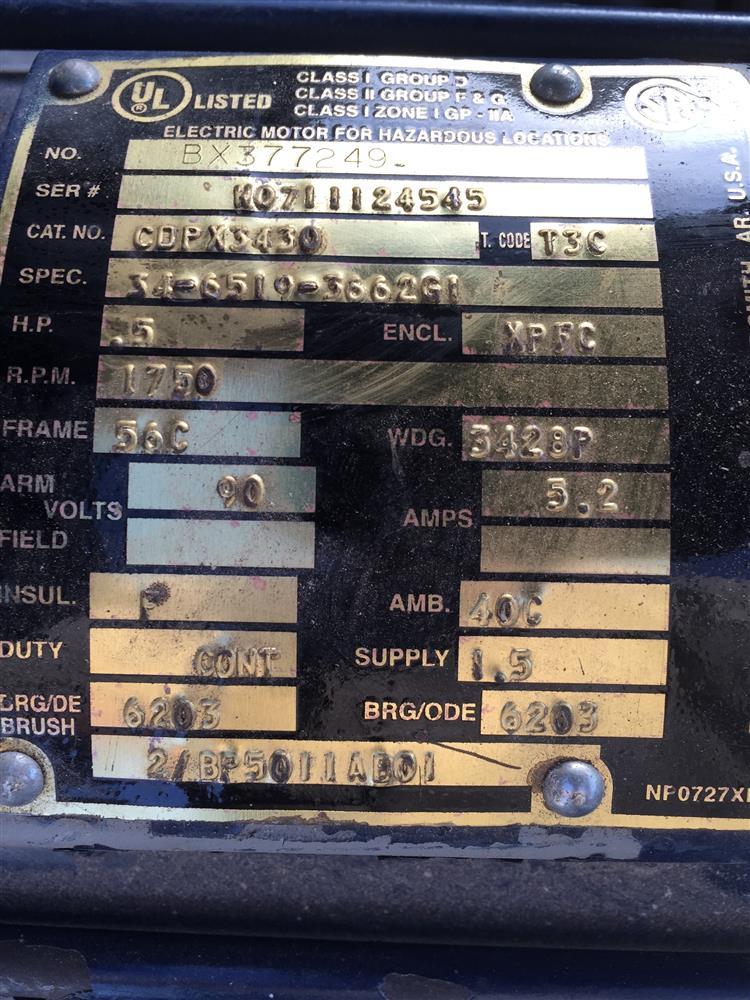 Image BALDOR CDPX-3430 Washdown Motor 660775