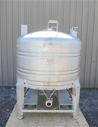 224079 - 211 Gallon Stainless Steel Tank, ''Aseptic'' Sanitary Tote