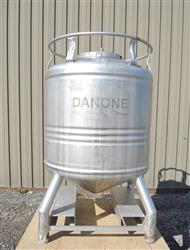 224084 - 211 Gallon Stainless Steel Tank, ''Aseptic'' Sanitary Tote