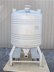224085 - 211 Gallon Stainless Steel Tank, ''Aseptic'' Sanitary Tote