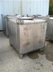 224876 - 350 Gallon IBC 304 Stainless Steel Tote Tank