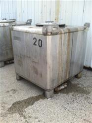224877 - 350 Gallon IBC 304 Stainless Steel Tote Tank