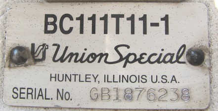 Image UNION SPECIAL Sewing Head - Model BC111T11-1 666818