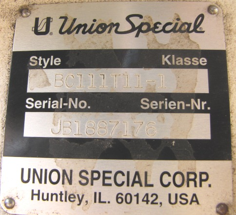 Image UNION SPECIAL Sewing Head - Model BC111T11-1 666821