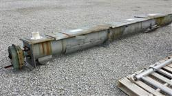 228098 - 12 Dia X 15' 8 Stainless Steel Screw Conveyor Trough