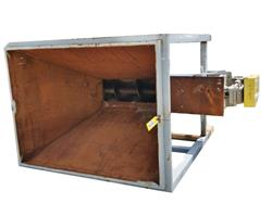 228125 - 16 X 12' GOODMAN Screw Conveyor with Carbon Steel Feed Hopper