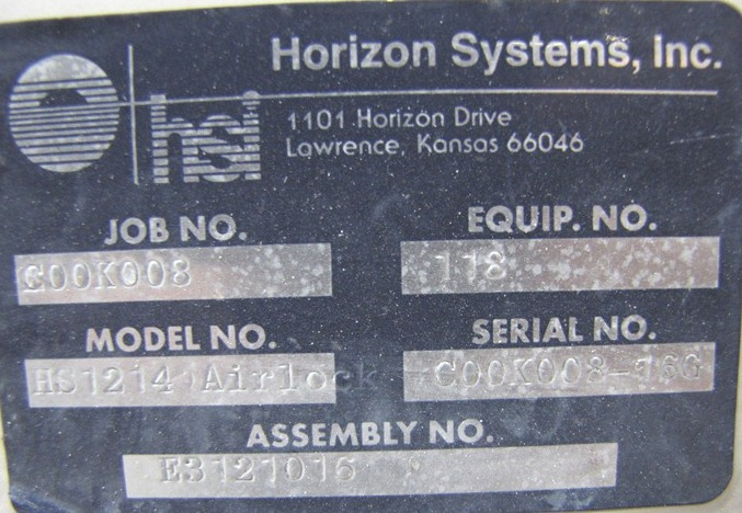 Image 10in X 10in HORIZON SYS. Rotary Airlock Valve 669168