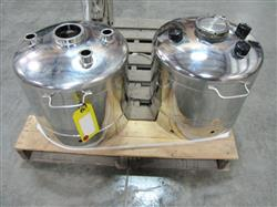 228595 - 10 Gallon Alloy Products Stainless Steel Canister