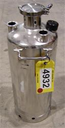 228596 - 6 Gallon Alloy Products 316L Stainless Steel Canister