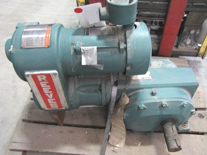 1hp reeves motodrive with m 228711 for sale used for Master electric gear motor