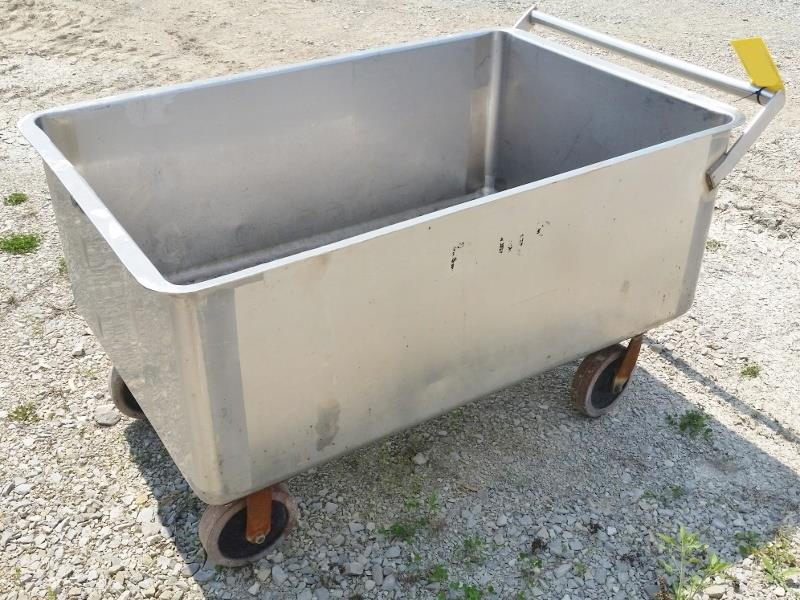 Image Stainless Steel Portable Push Cart 811321