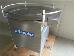 "228921 - 36"" SIMPLEX Stainless Steel Unscrambeler Accumulation Table"