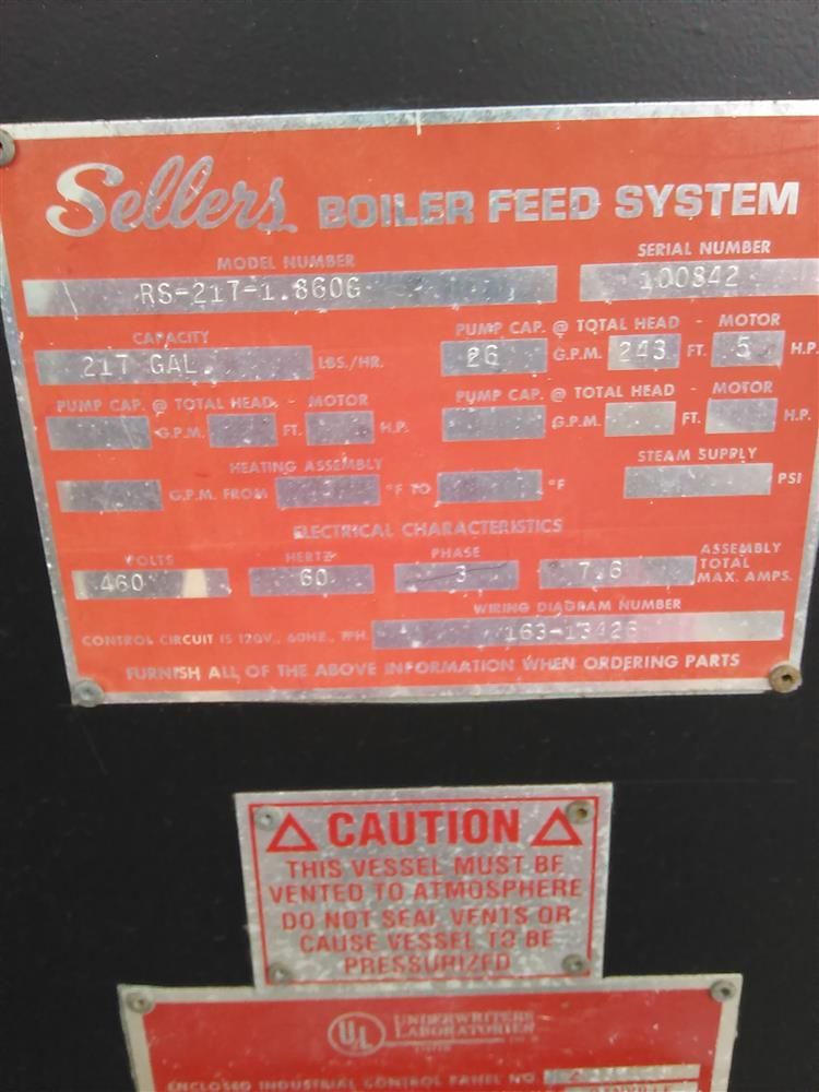 Image 217 Gallon Boiler Feed System 672784