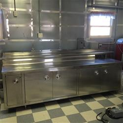 "229401 - 115"" x 24"" x 35"" Stainless Steel Work Table"