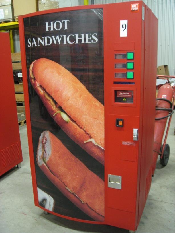 Hot Sandwich Vending Machine