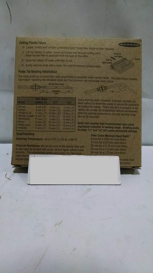 Image BANNER Fiber Optic Photoeye (Lot of 4) 675583