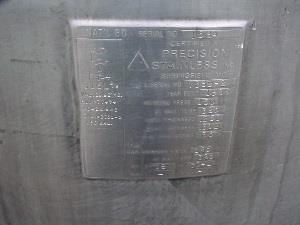 Image 150 Gallon Stainless Steel Jacketed Pressure Tank 800445