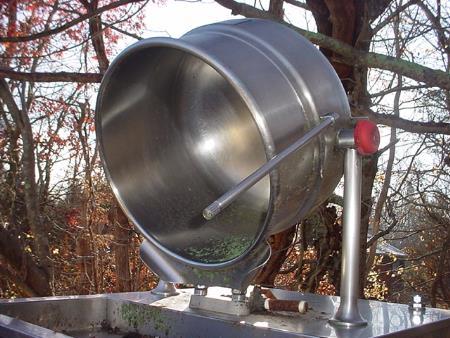 Image 10 Gallon Stainless Steel Steam Jacketed Tilt Kettle 1570865