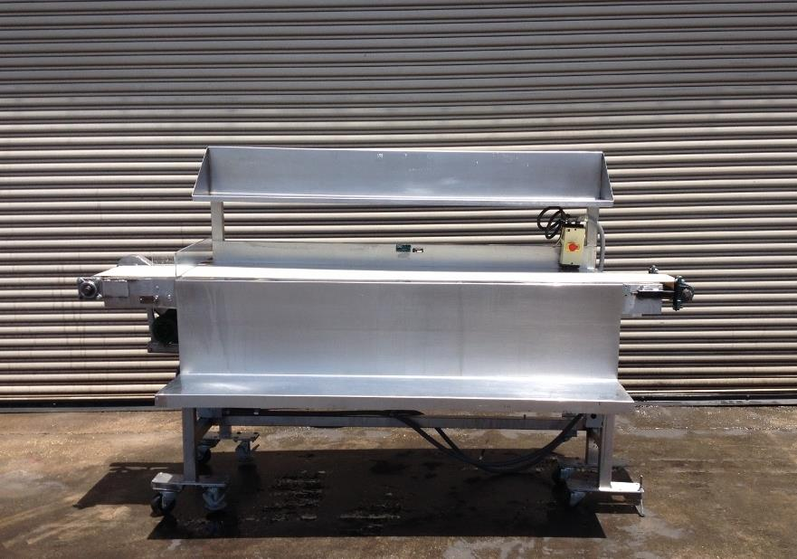"Image 12"" x 100"" Long Stainless Steel Food Conveyor Pack Off Table 676870"