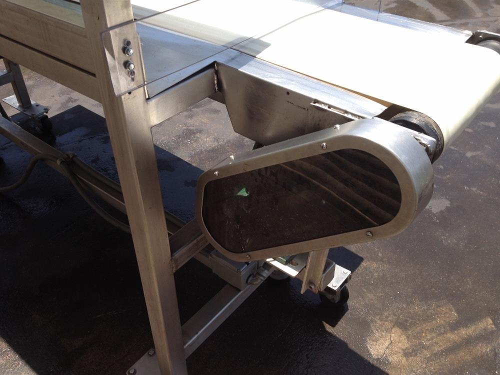 "Image 12"" x 100"" Long Stainless Steel Food Conveyor Pack Off Table 676873"
