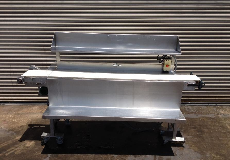 "Image 12"" x 100"" Long Stainless Steel Food Conveyor Pack Off Table 676874"