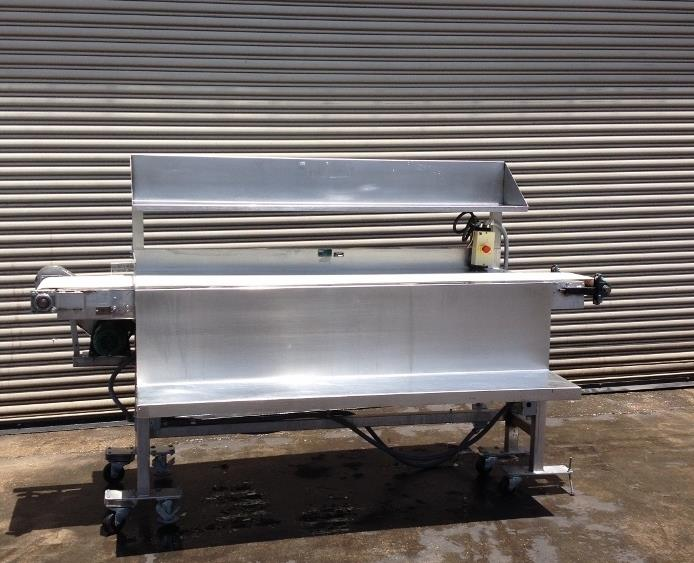 "Image 12"" x 100"" Long Stainless Steel Food Conveyor Pack Off Table 676877"