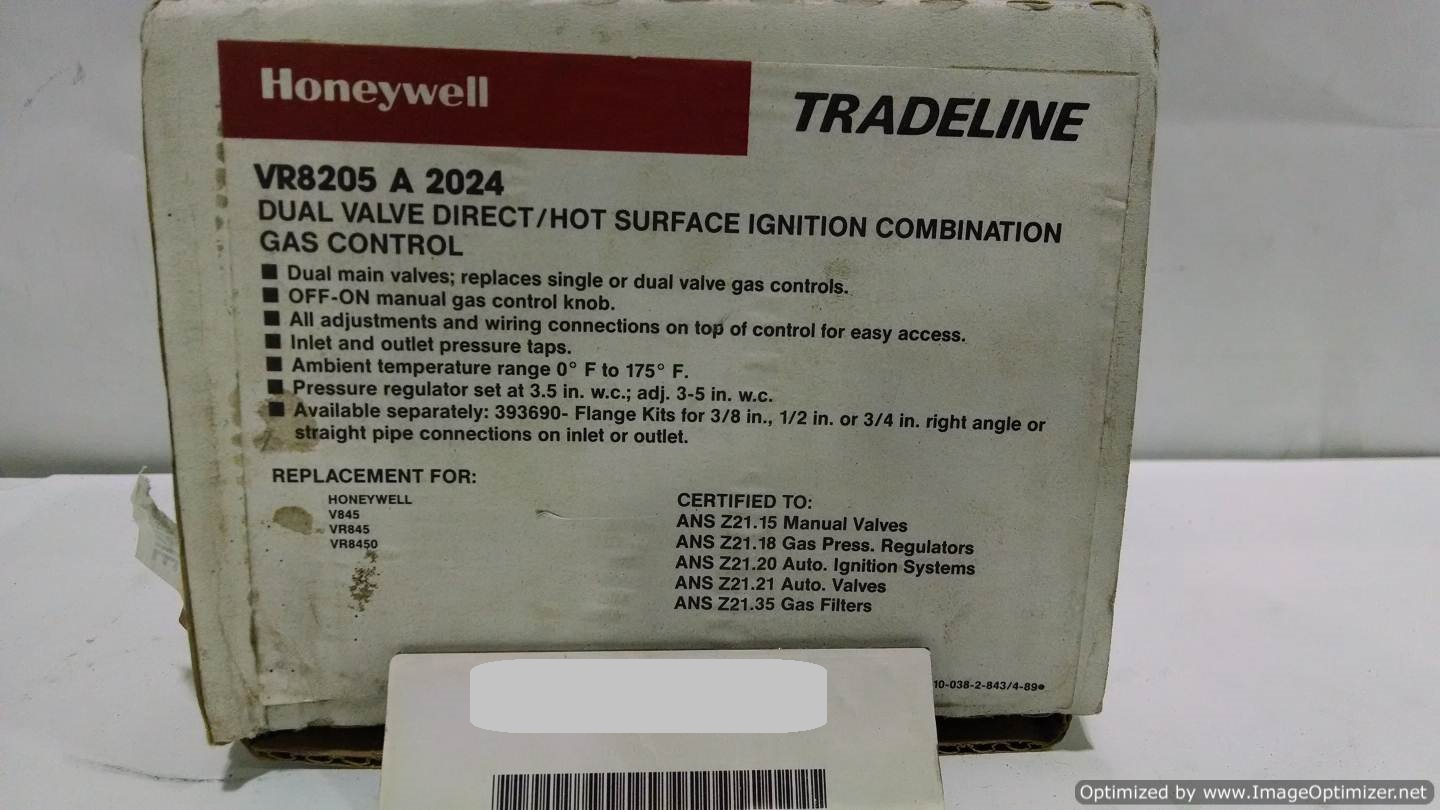 Image HONEYWELL VR8205A-2024 Valve (LOT of 7) 677106
