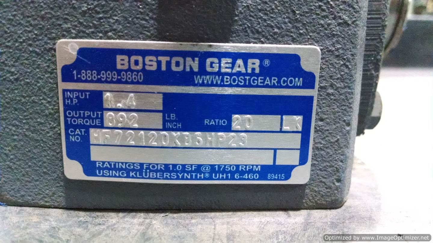 Image BOSTON GEAR HF72120KB5HP23 Gearmotor  678528