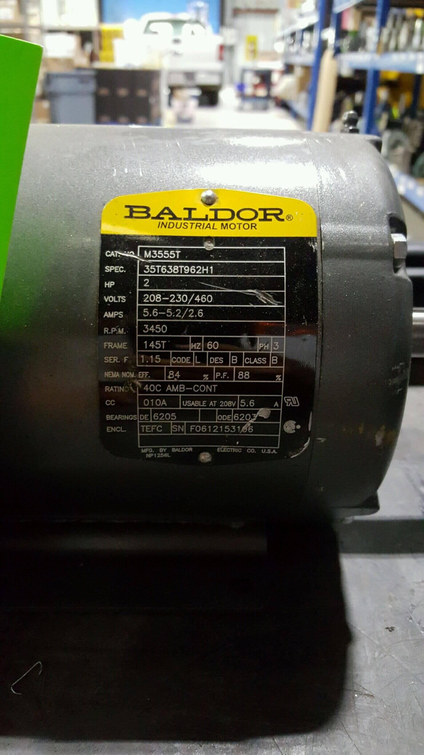 Image BALDOR M3555T Electric Motor (Lot Of 2) 678587