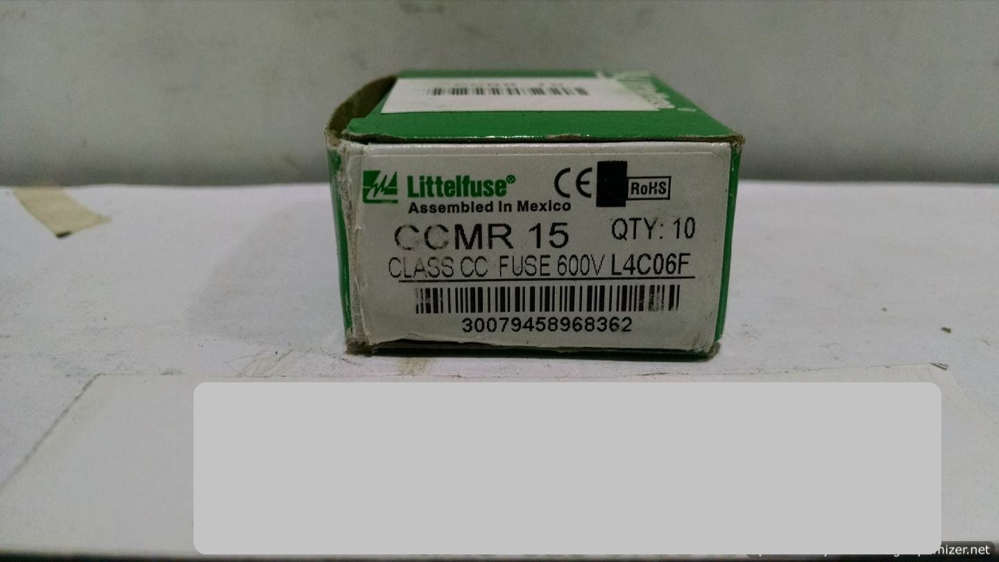 Image LITTELFUSE CCMR-15 Fuse (Lot Of 21) 678595