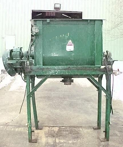 Image POSEY IRON WORKS 20 Cu/Ft Carbon Steel Double Ribbon Blender 679861