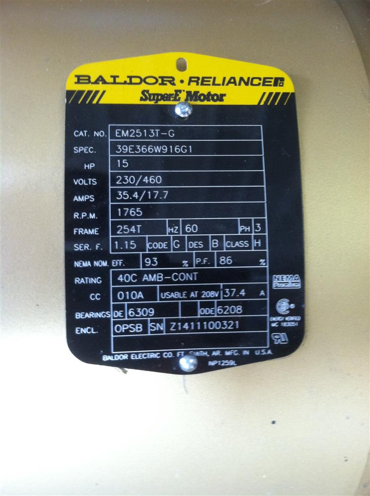 Image BALDOR Reliance SuperE  Electric Motor 679952