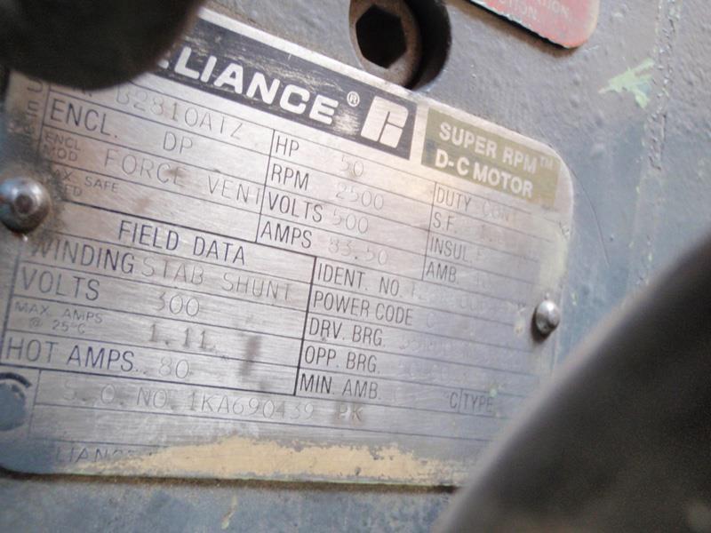 Image 50 HP RELIANCE B2310ATZ Motor 680379